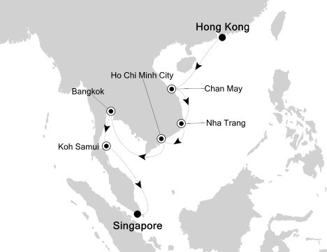 Singapore to Hong Kong Cruise