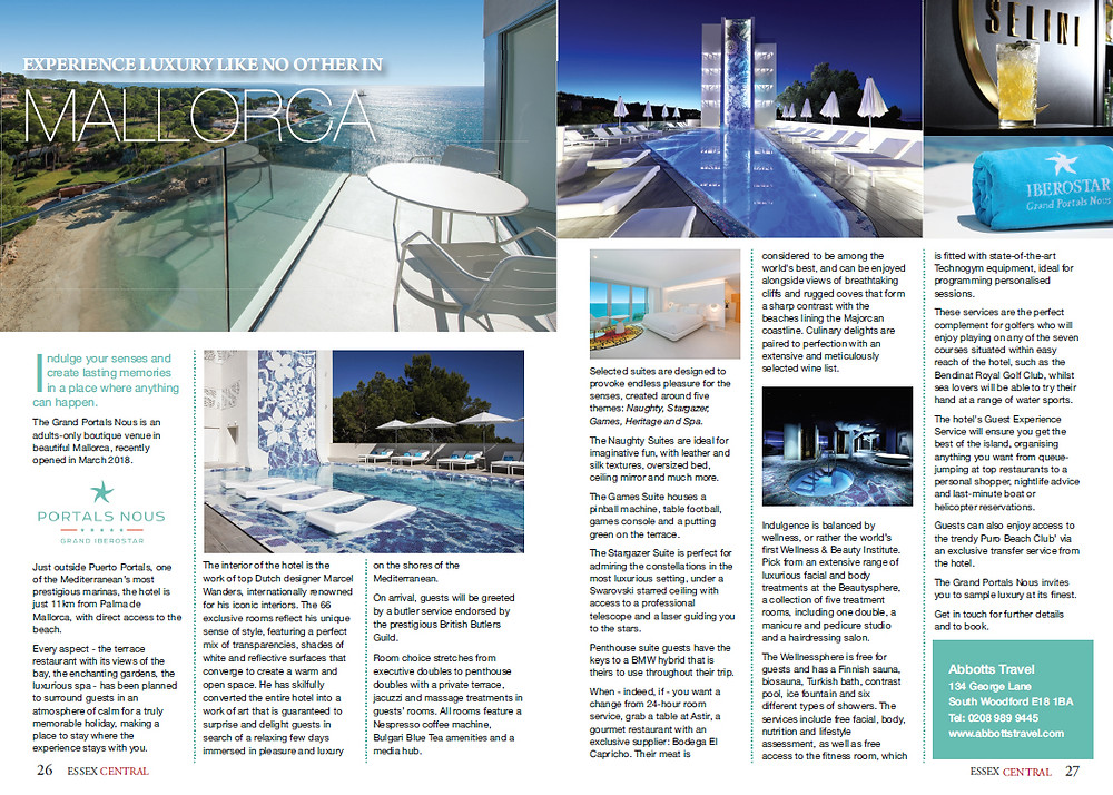 Experience luxury like no other in Mallorca, Essex Central Magazine