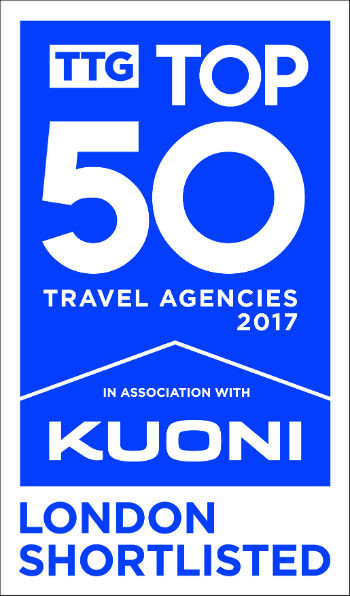 Logo: TTG Top 50 Travel Agencies 2017 - London Shortlisted