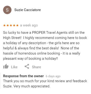 Suzie Cacciatore Review