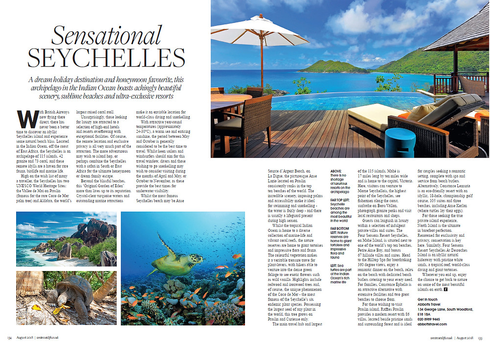 Sensational Seychelles, West Essex Life