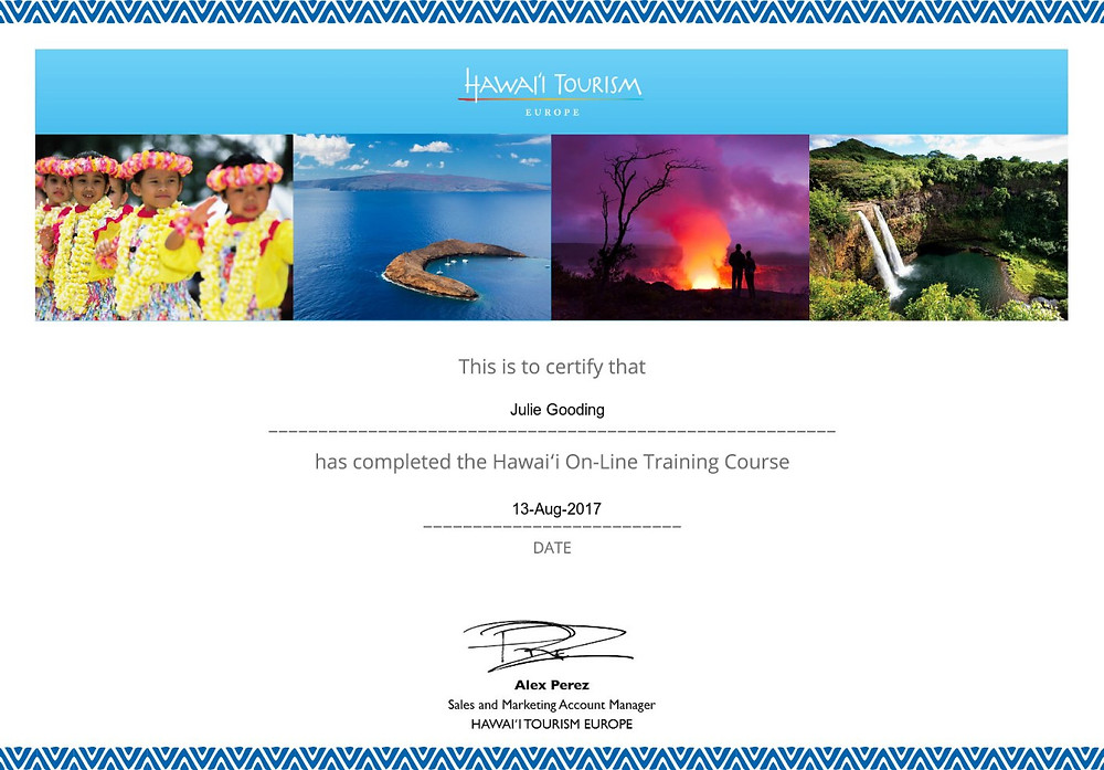 Hawaii Tourism online training