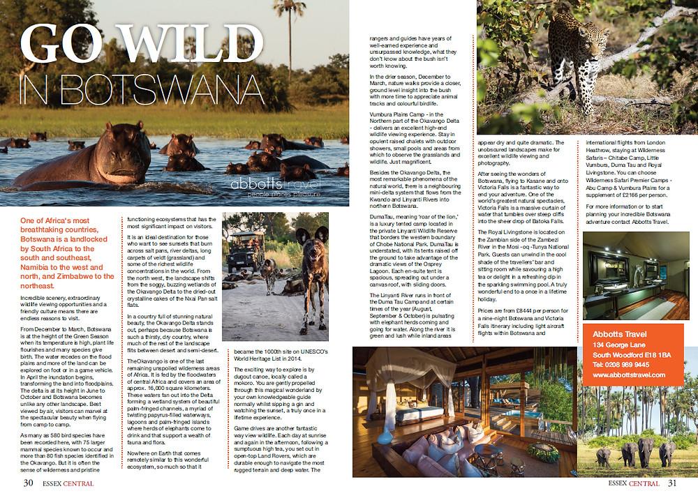 Go wild in Botswana