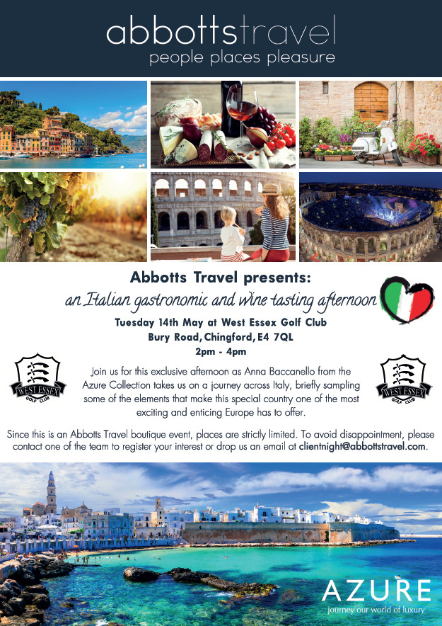 Italian gastronomic and wine tasting afternoon