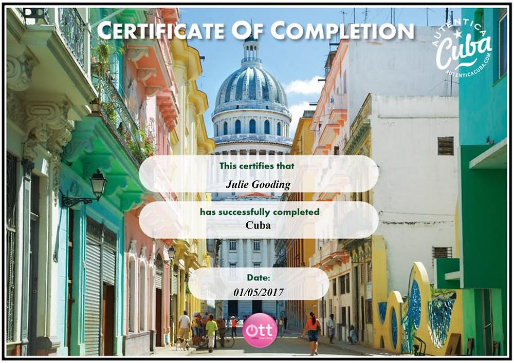 Autentica Cuba training