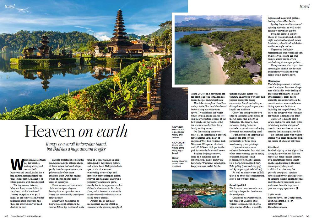 Bali, West Essex Life