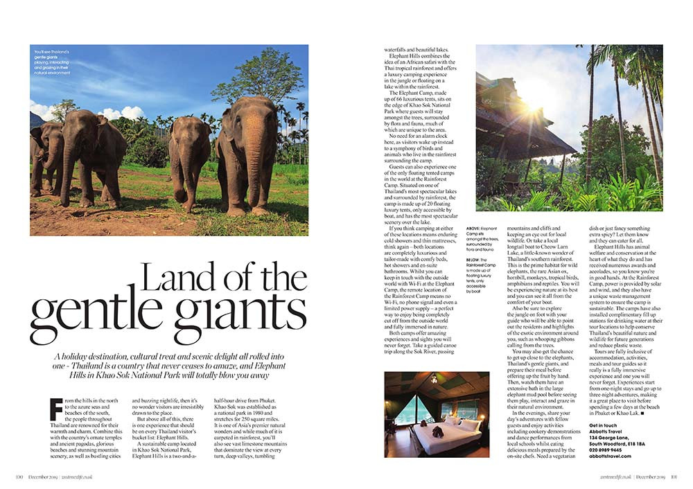 Thailand - Land of the Gentle Giants, West Essex Life