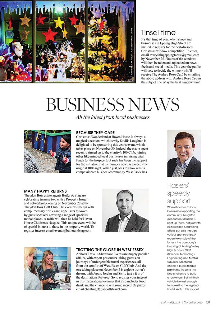 Business News, West Essex Life