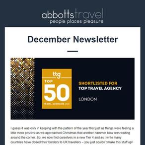 Abbotts Travel Newsletter - December 2020