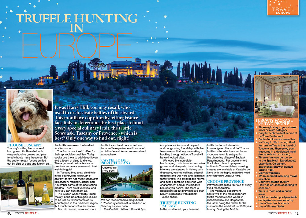 Truffle hunting in Europe, Essex Central Magazine