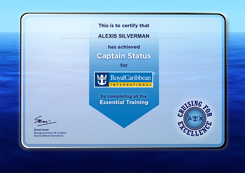 Royal Caribbean International essential training