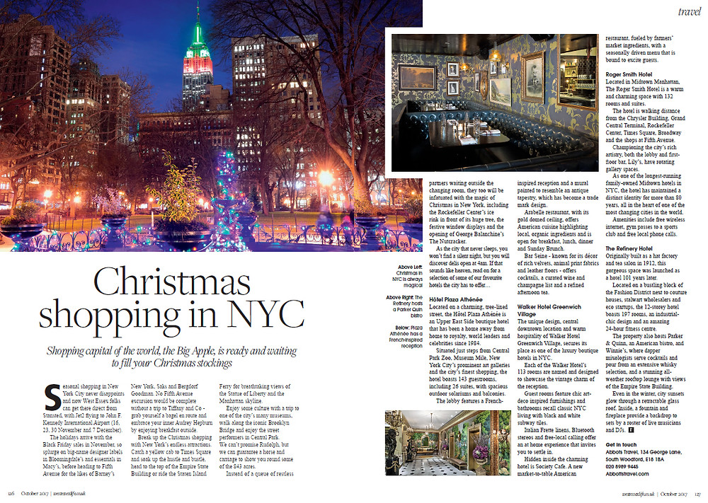 Christmas Shopping in NYC, West Essex Life