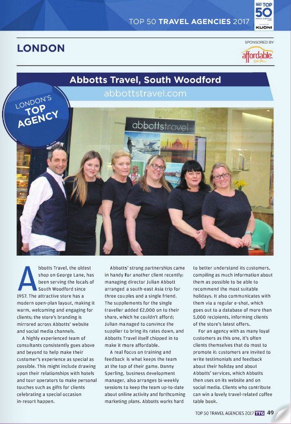 Abbotts Travel - London's Top Agency