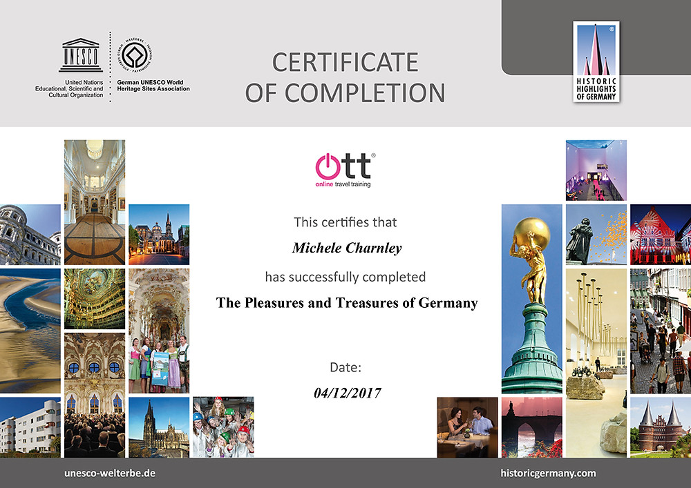 The pleasures and treasures of Germany online travel training