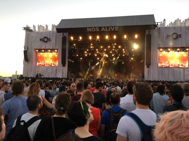 The Nos Alive festival, Portugal