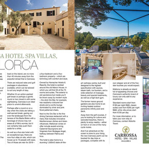 Carrossa Hotel Spa Villas, Mallorca, Essex Central Magazine - September 2019