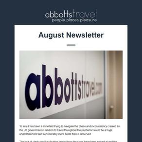 Abbotts Travel Newsletter - August 2021