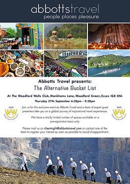 Abbotts Travel - Bucket List - A3 Poster