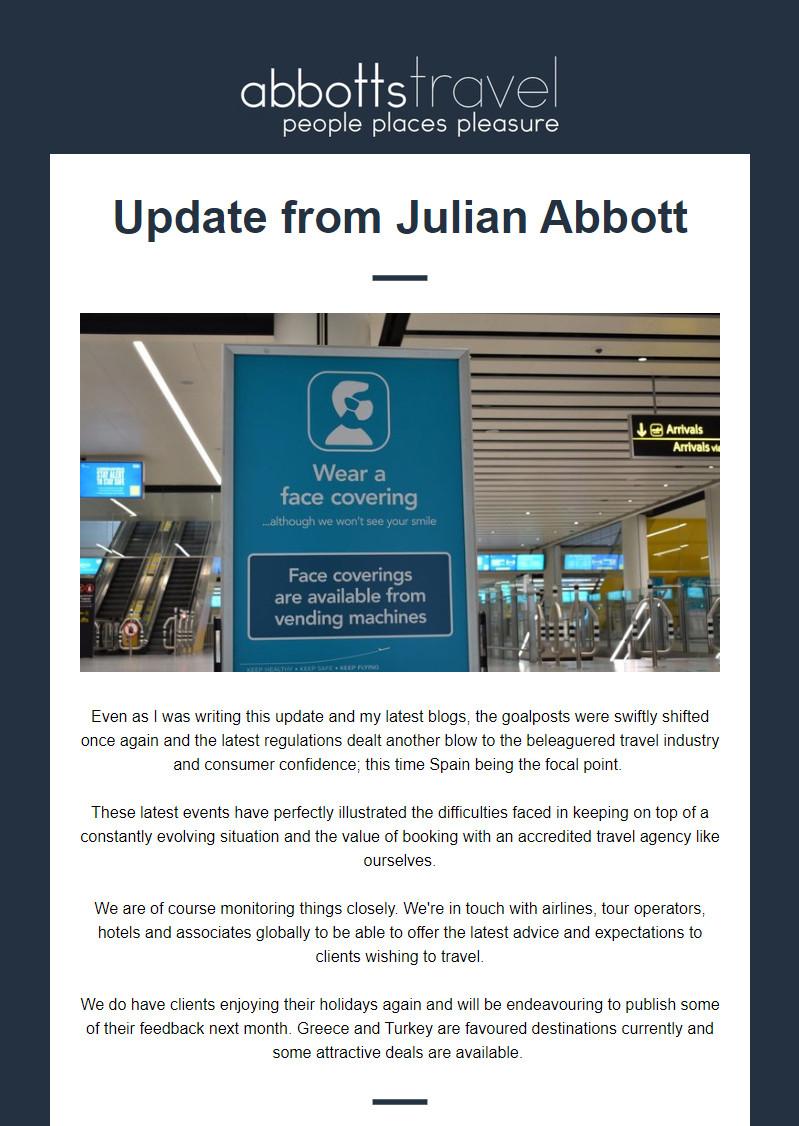 Update from Julian