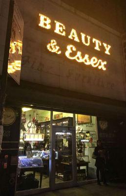 Beauty & Essex restaurant, 146 Essex Street, New York