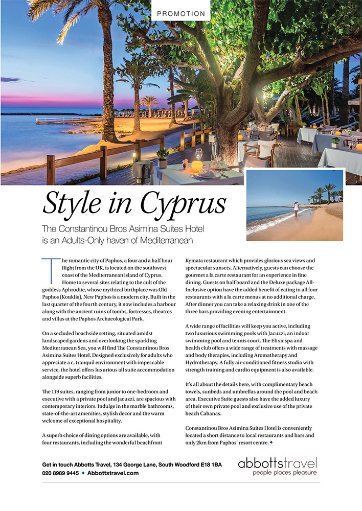 Style in Cyprus, West Essex Life