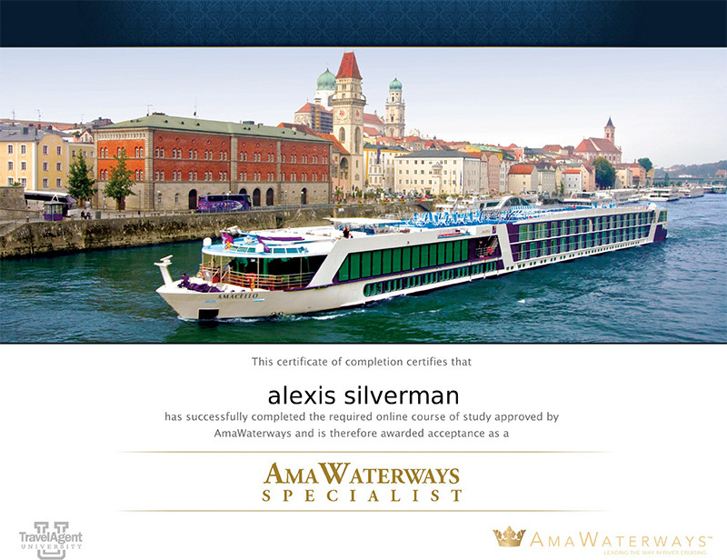 AmaWaterways specialist training