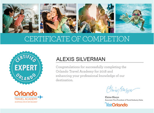 Alexis Silverman has completed the Orlando Travel Academy