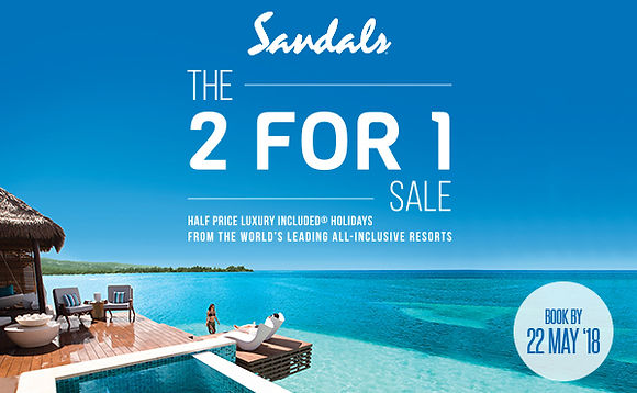 bd093b6044d0 The Sandals 2 for 1 Sale is now on! With this you can book your dream  holiday at a dream price