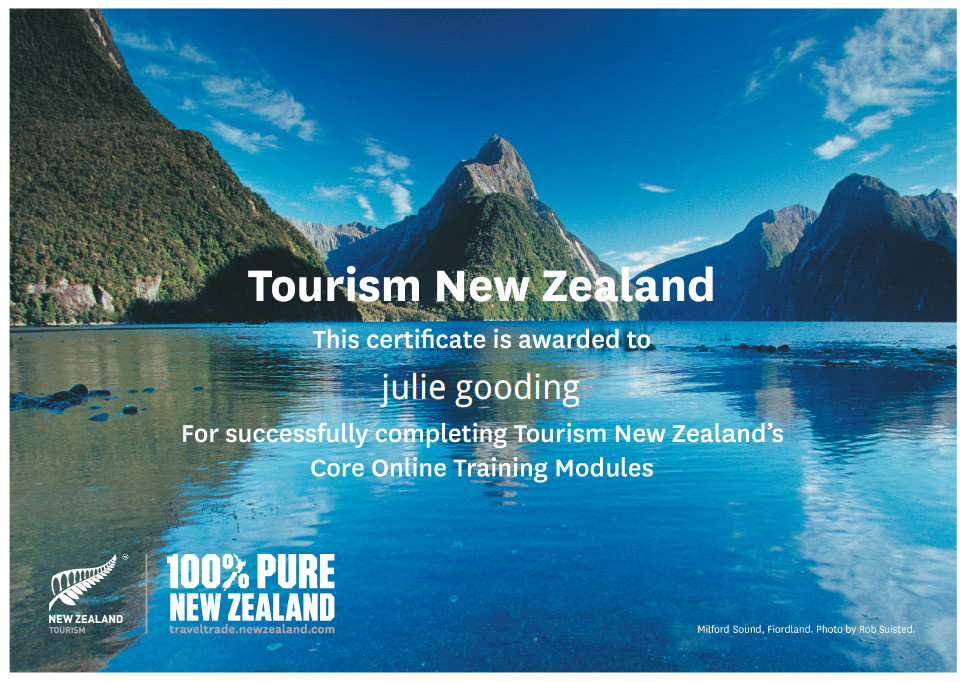 Tourism New Zealand's Core Online Training Modules