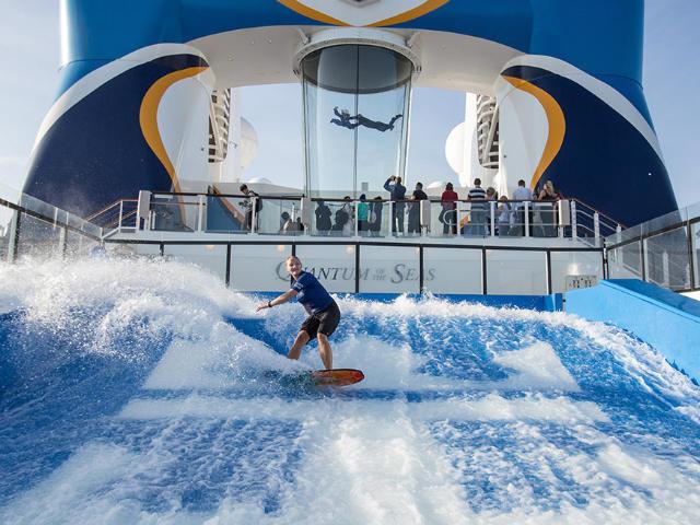 Watersports aboard a Royal Caribbean cruise ship