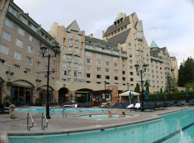 A view of the Chateau at Whistler