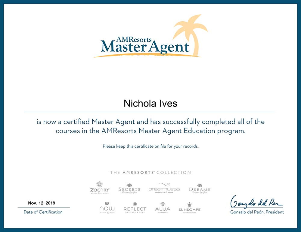 AMResorts Master Agent Education programme