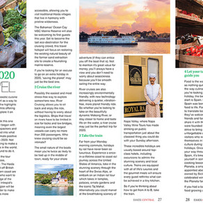 First Look: Top Travel Tips for 2020, Essex Central Magazine - Feb 2020