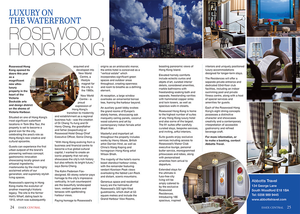 Luxury on the Waterfront: Rosewood, Hong Kong