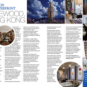 Luxury on the Waterfront: Rosewood, Hong Kong, Essex Central Magazine - May 2019