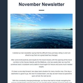 Abbotts Travel Newsletter - November 2020
