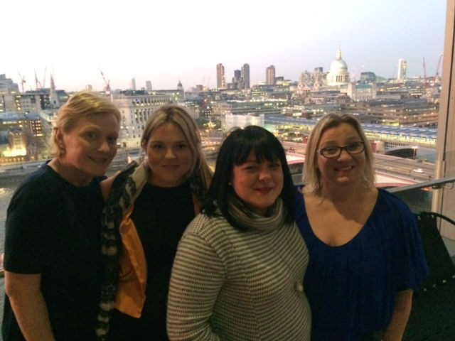 (L-R: Sharron, Carly, Shelley and Julie)