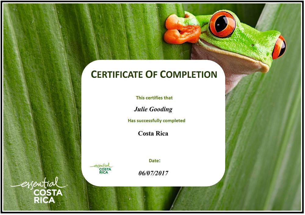 Essential Costa Rica training