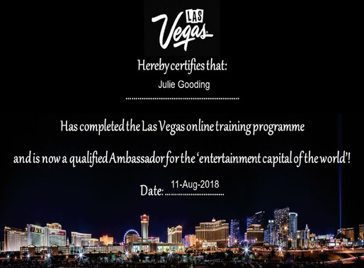 Julie Gooding has completed the Las Vegas online training programme