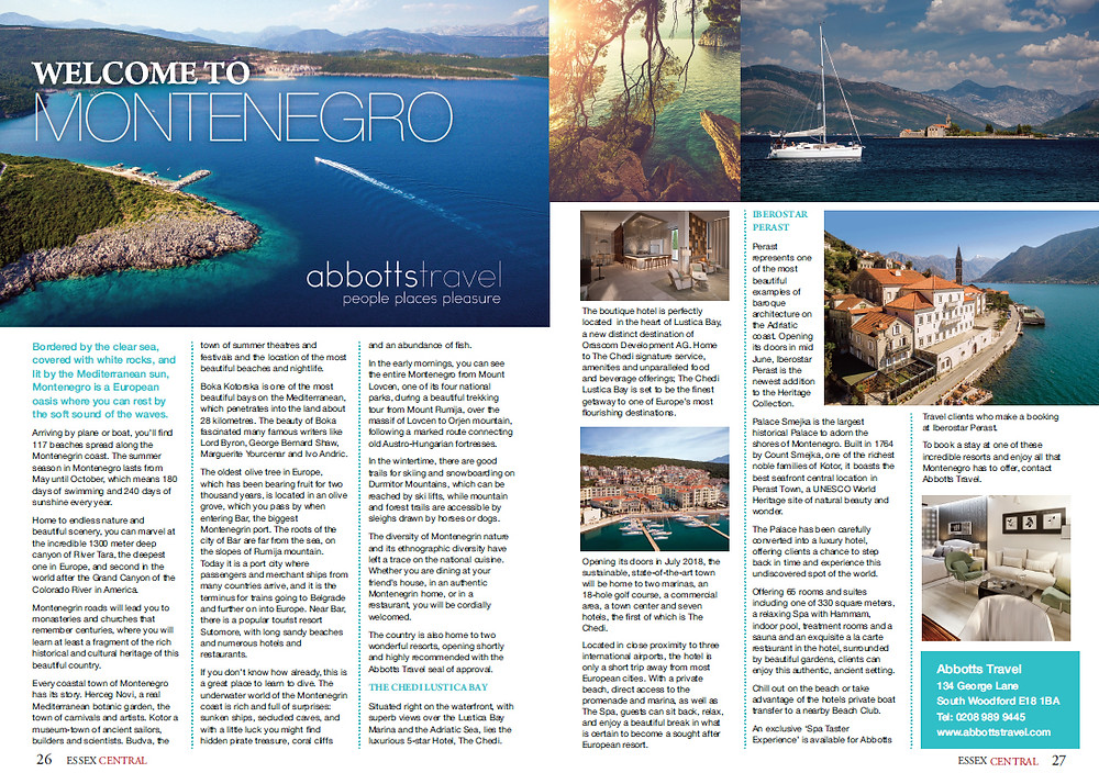 Welcome to Montenegro, Essex Central Magazine