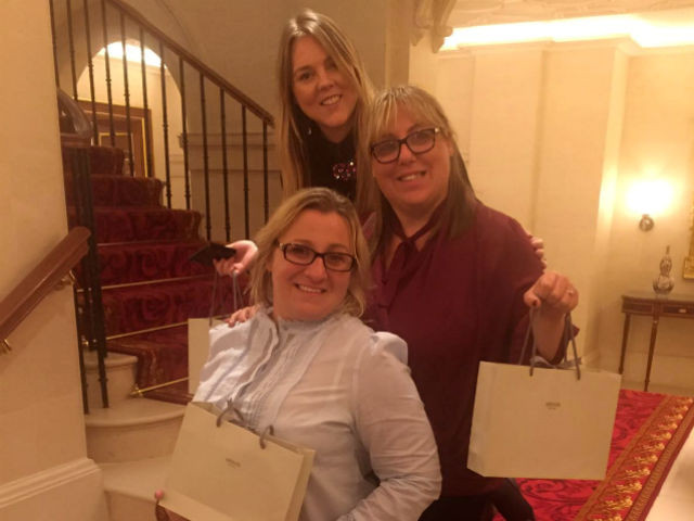 Carly, Alexis and Julie at the Lanesborough Hotel