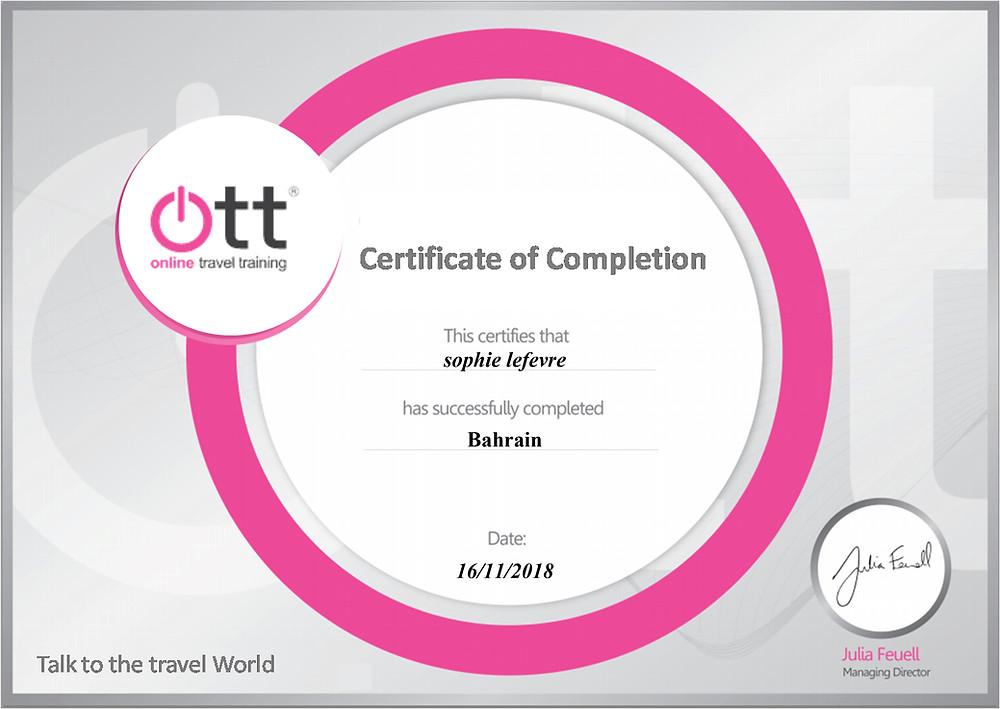 Bahrain online training programme