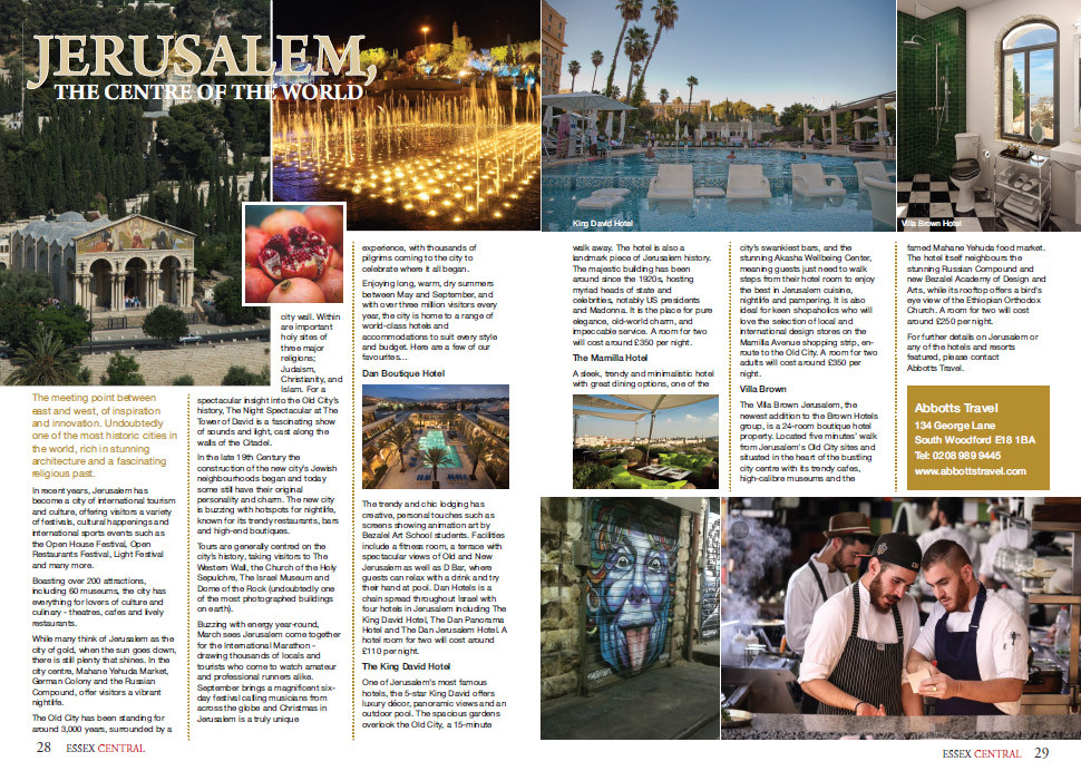 Jerusalem - The Centre of the World, Essex Central Magazine