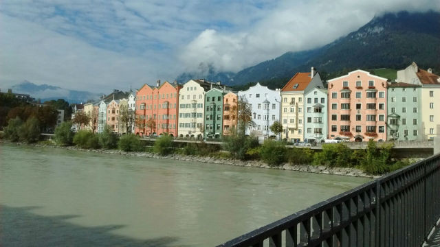 The colourful homes of Innsbruck