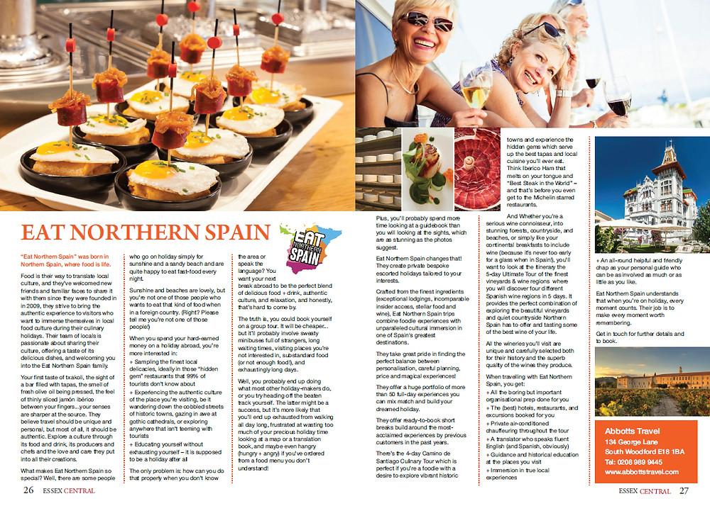 Eat Northern Spain, Essex Central Magazine