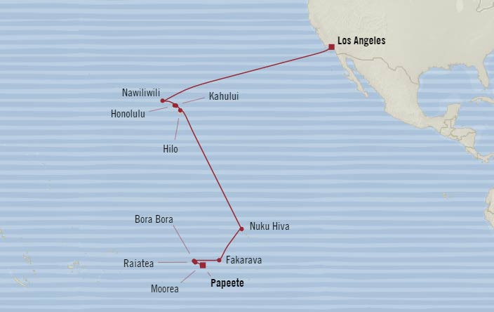 Los Angeles to Tahiti Itinerary
