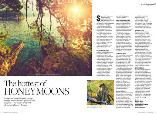 The hottest of honeymoons, West Essex Life - February 2020