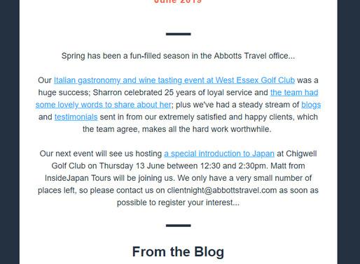 Abbotts Travel Newsletter, June 2019