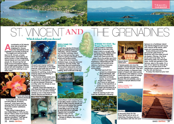 St Vincent and The Grenadines, Essex Central Magazine - October 2016