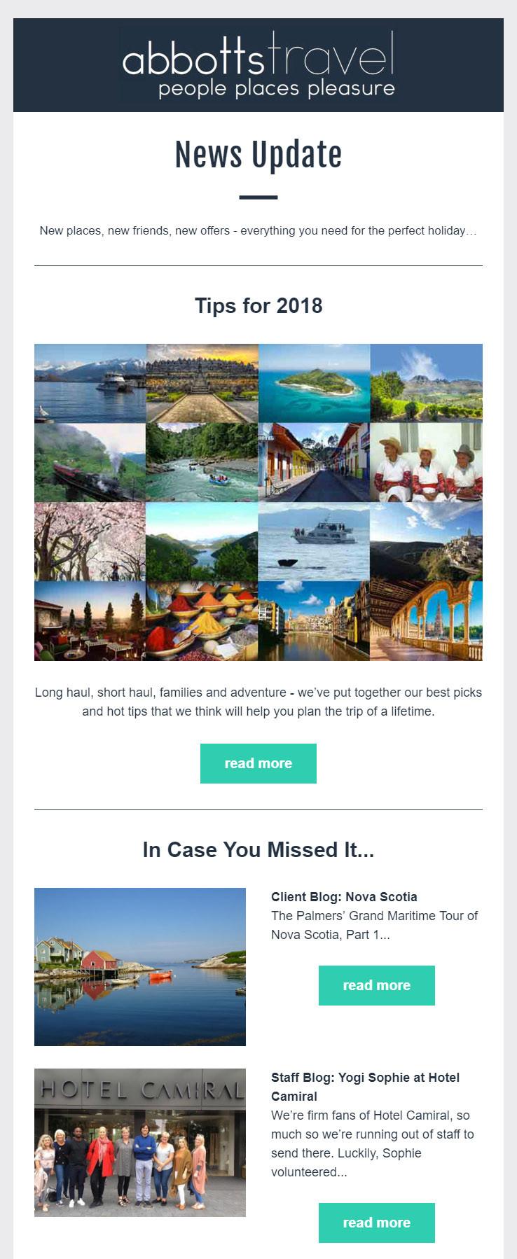 Abbotts Travel - July 2017 Newsletter